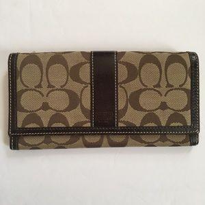 Coach signature canvas wallet